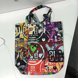 એ 1 ડિજિટલ ટેક્સટાઇલ પ્રિન્ટર WER-EP6090T દ્વારા બિન-વણાયેલા બેગ પ્રિન્ટિંગ નમૂના